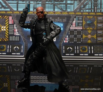 Marvel Legends Avengers Initative figure review - Nick Fury with both guns