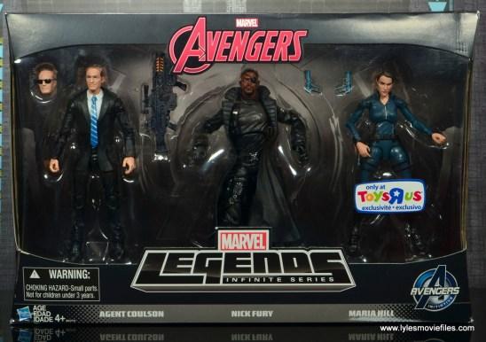 Marvel Legends Avengers Initative figure review -package front