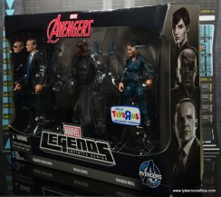 Marvel Legends Avengers Initative figure review -package side