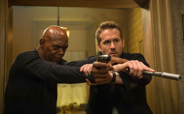 The Hitman's Bodyguard movie pictures - Samuel L. Jackson and Ryan Reynolds