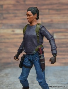 The Walking Dead Sasha figure review -left side with knife