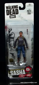 The Walking Dead Sasha figure review -package front