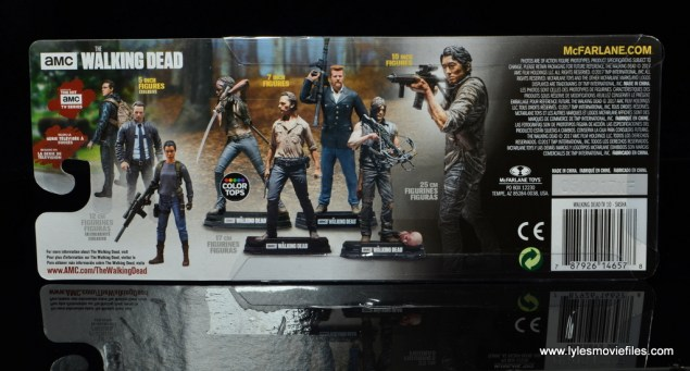 The Walking Dead Sasha figure review - package rear