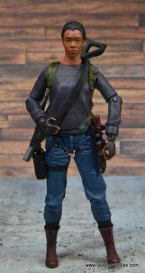 The Walking Dead Sasha figure review -with gear on