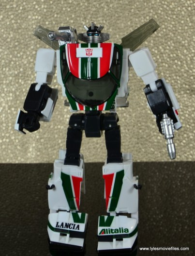 Transformers Masterpiece Wheeljack figure review - bot mode front side