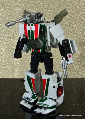 Transformers Masterpiece Wheeljack figure review - bot mode left side