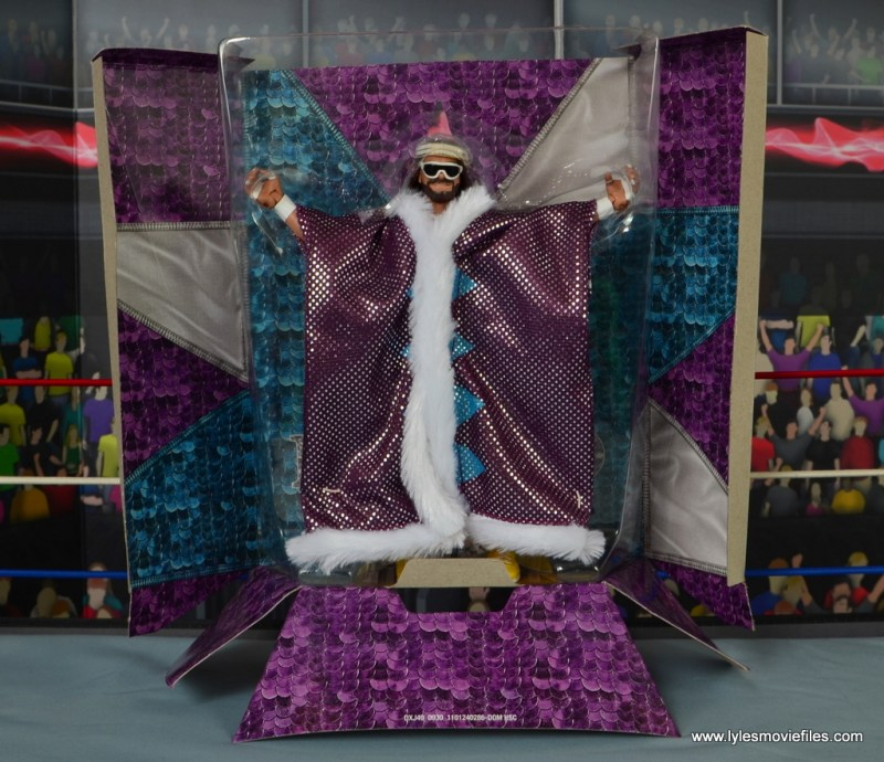 WWE Defining Moments Macho Man Randy Savage figure review -on inner stand