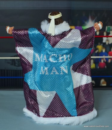 WWE Defining Moments Macho Man Randy Savage figure review - robe rear