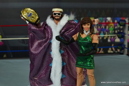 WWE Defining Moments Macho Man Randy Savage figure review -wide with Miss Elizabeth