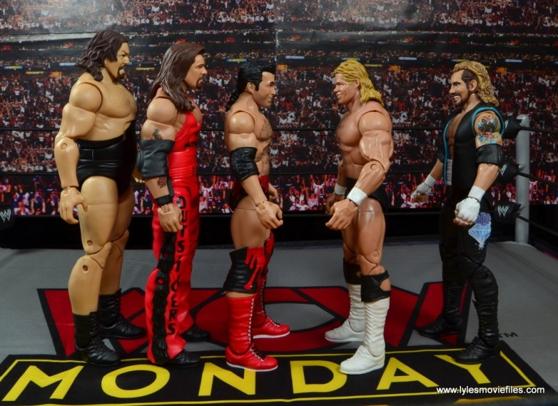 WWE Elite 51 Scott Hall figure review -scale with The Giant, Kevin Nash, Lex Luger and DDP