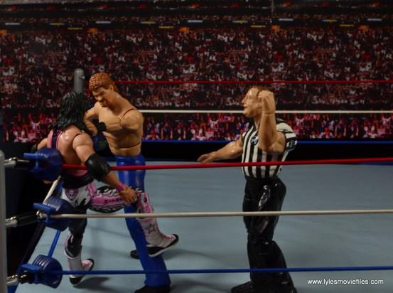 WWE Elite Isaac Yankem figure review -choking out Bret Hart
