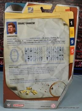 WWE Elite Isaac Yankem figure review -package rear