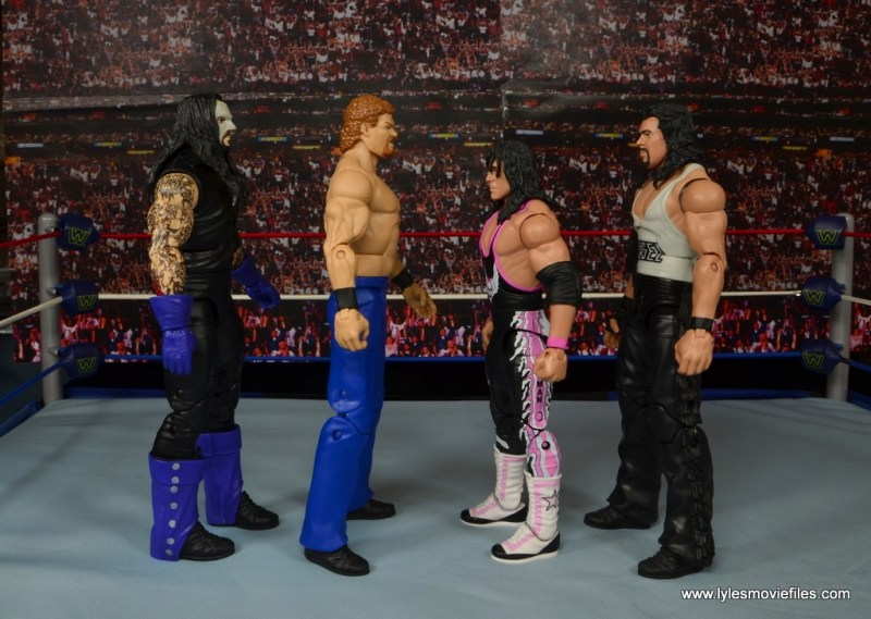 WWE Elite Isaac Yankem figure review -scale with The Undertaker, Bret Hart and Diesel