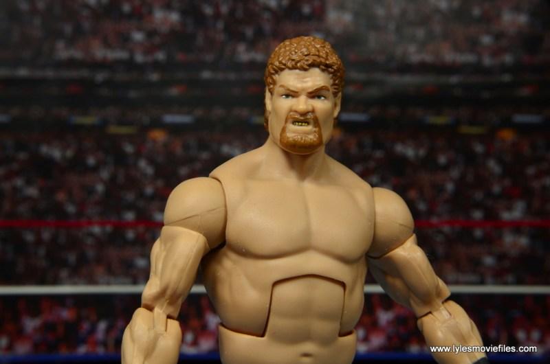 WWE Elite Isaac Yankem figure review -wide pic