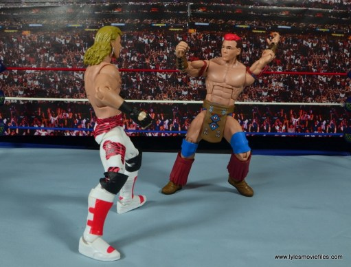 WWE Elite Tatanka figure review - facing off with HBK