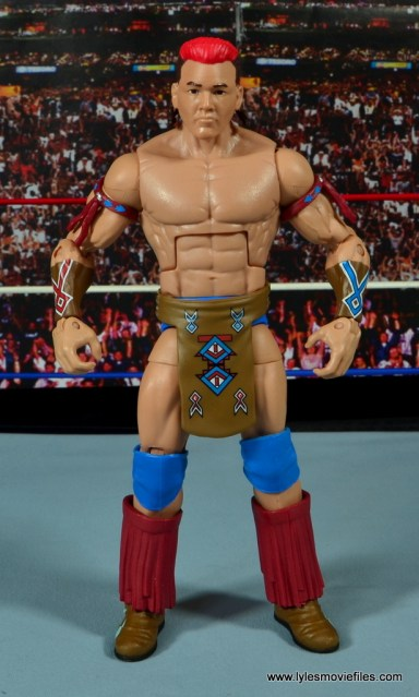 WWE Elite Tatanka figure review - front