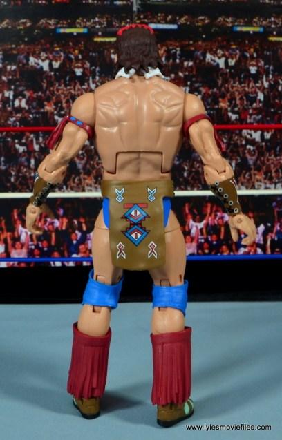 WWE Elite Tatanka figure review - rear