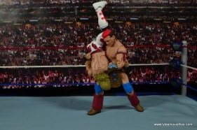 WWE Elite Tatanka figure review - shoulder breaker to HBK