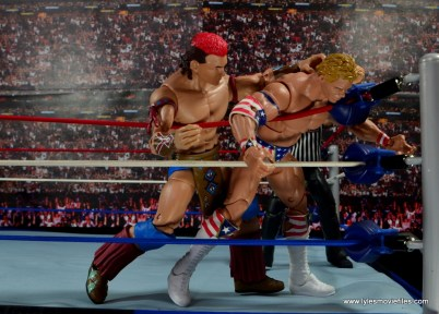 WWE Elite Tatanka figure review - smashing Luger's head into turnbuckle