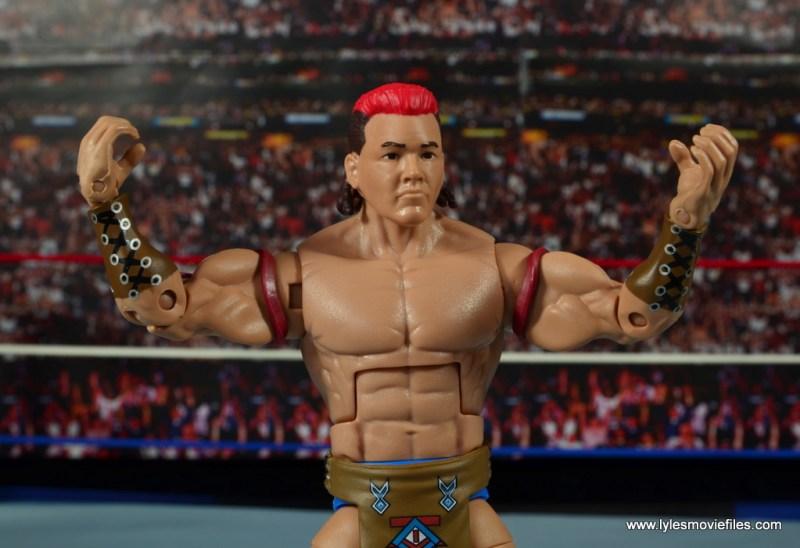 WWE Elite Tatanka figure review - wide shot