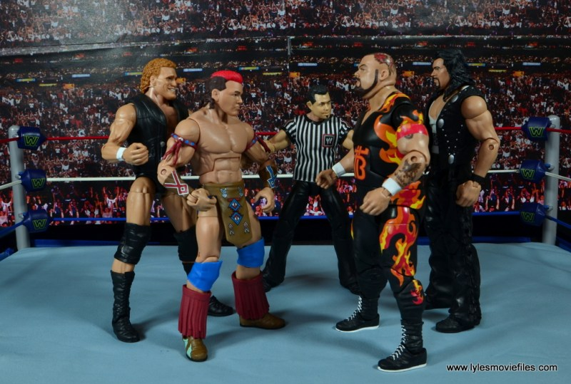 WWE Elite Tatanka figure review - with Sid vs Diesel and Bam Bam Bigelow