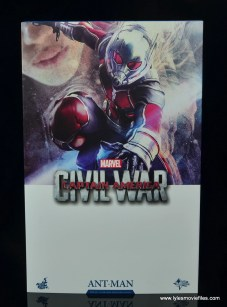 hot toys captain america civil war ant-man figure review -package front