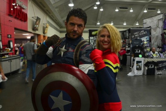 Baltimore Comic Con 2017 cosplay - Captain America and Captain Marvel
