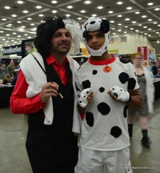 Baltimore Comic Con 2017 cosplay - Cruella de Ville and Dalmation