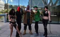 Baltimore Comic Con 2017 cosplay - Enchantress, Deathstroke, Bane, Riddler and Catwoman