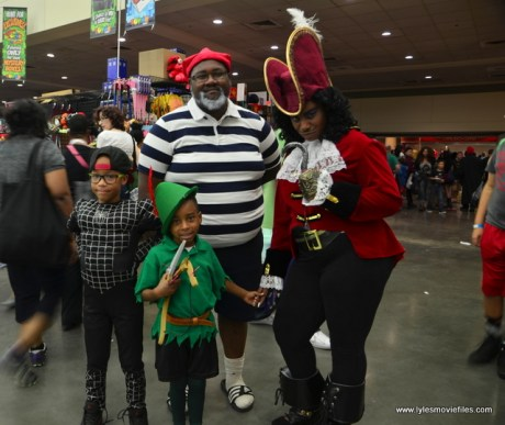Baltimore Comic Con 2017 cosplay - Spider-Man, Smee, Peter Pan and Captain Hook