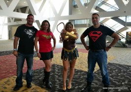 Baltimore Comic Con 2017 cosplay - Superman, Wonder Woman, Wonder Woman and Superboy