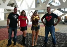 Baltimore Comic Con 2017 cosplay - Superman, Wonder Woman, Wonder Woman and Superboy