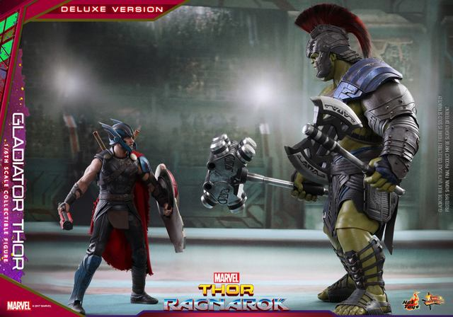 Hot Toys Gladiator Thor figure -face off with Gladiator Hulk