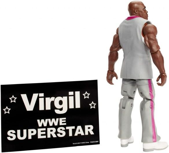 WWE Elite Network Spotlight Virgil with sign