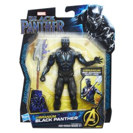 MARVEL BLACK PANTHER 6-INCH Figure Assortment (Vibranium Suit Black Panther) - in pkg