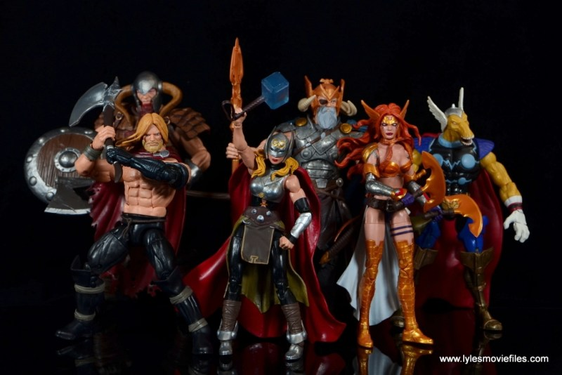 SDCC 2017 Marvel Legends Battle for Asgard figure review - Asgardians