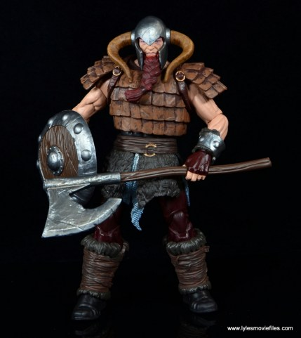 SDCC 2017 Marvel Legends Battle for Asgard figure review - Bor with accessories