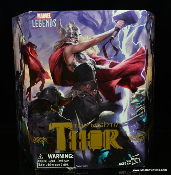 SDCC 2017 Marvel Legends Battle for Asgard figure review - package front