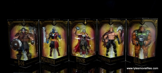 SDCC 2017 Marvel Legends Battle for Asgard figure review - package interior
