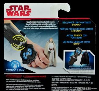 Star Wars The Last Jedi Master Luke Skywalker figure review -package bio section