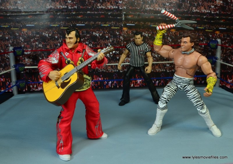 WWE Elite Brutus The Barber Beefcake figure review -face off with Honky Tonk Man