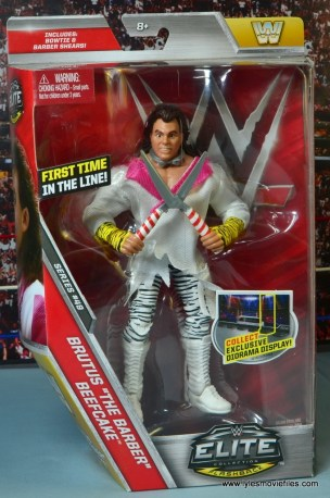 WWE Elite Brutus The Barber Beefcake figure review - package front