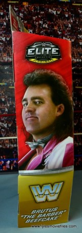 WWE Elite Brutus The Barber Beefcake figure review -package side