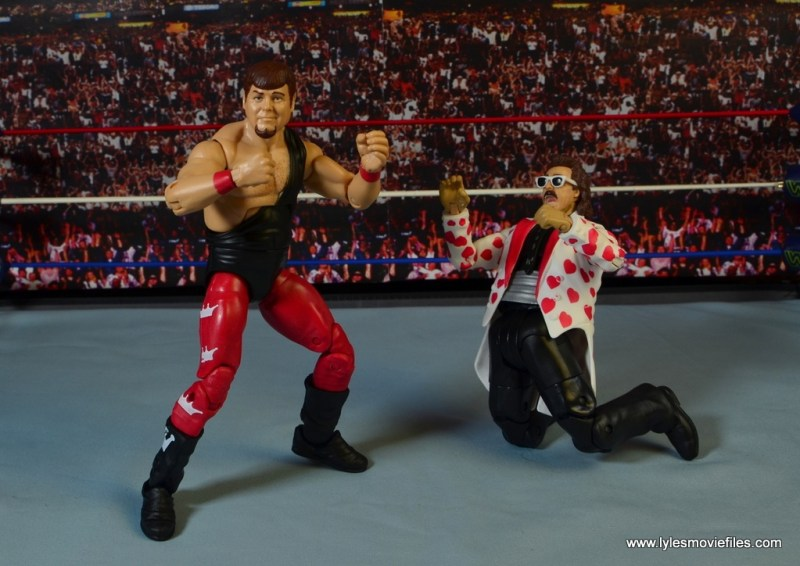 WWE Hall of Fame Jerry The King Lawler figure review -about to knock out Jimmy Hart