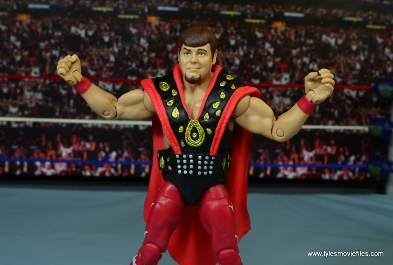 WWE Hall of Fame Jerry The King Lawler figure review -arms out wide