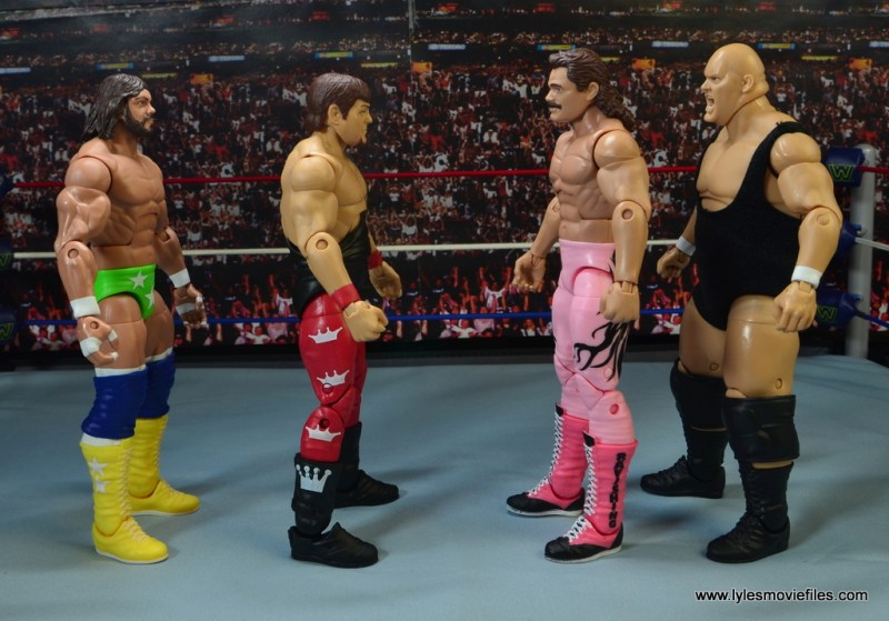 WWE Hall of Fame Jerry The King Lawler figure review -scale with Macho Man, Rick Rude and King Kong Bundy