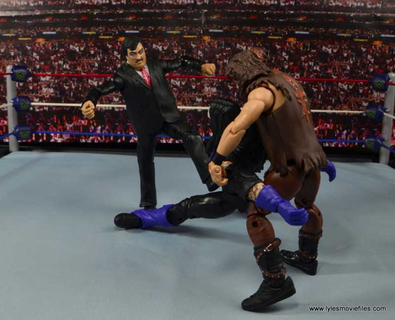 WWE Paul Bearer figure review - attacking Undertaker with Mankind