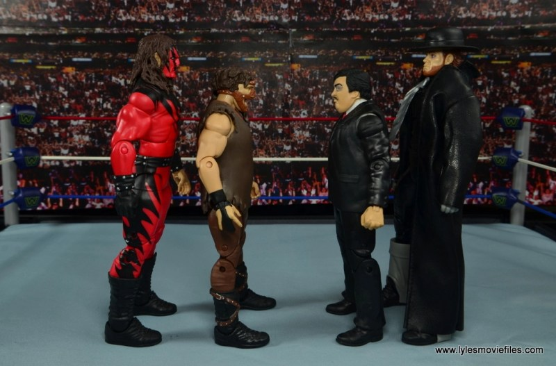 WWE Paul Bearer figure review -scale with Kane, Mankind and The Undertaker