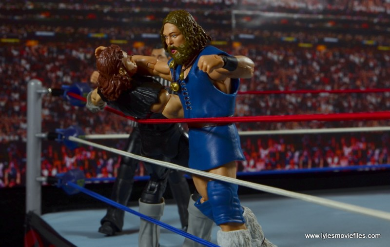 WWE The Berzerker figure review -clothesline to The Undertaker