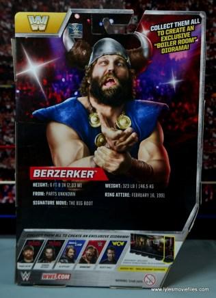 WWE The Berzerker figure review -package rear